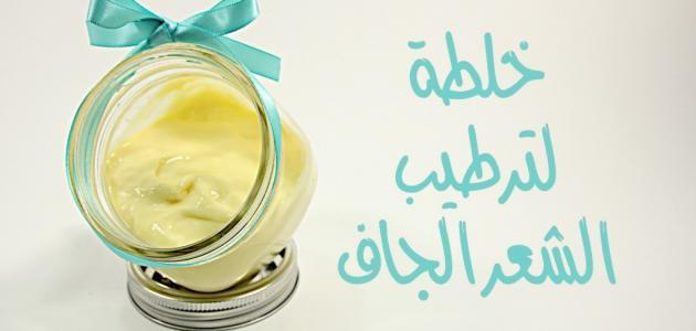 صورة خلطات للشعر الجاف , تركيبات طبيعية لعلاج الشعر الجاف