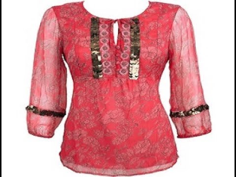 صورة تفصيلات بلوزات شيفون , احدث تفصيلات للملابس