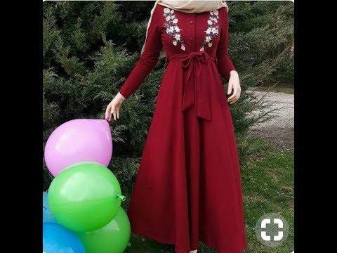 صورة حجابات مخيطة , احدث واحلى ملابس المحجبات سهلة التفصيل