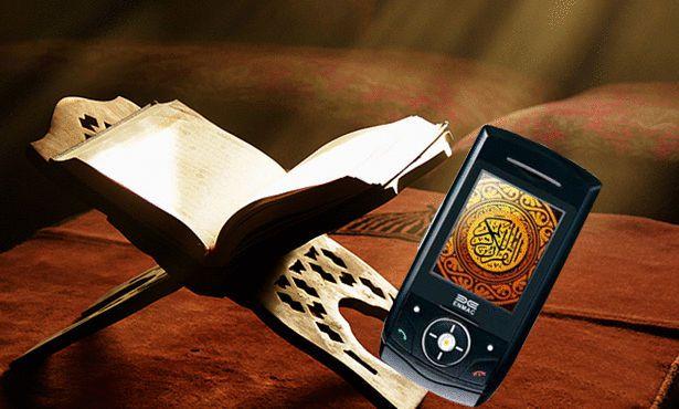 صورة هل يجوز قراءة القران من الجوال , فتاوى قراءة القران من التليفون