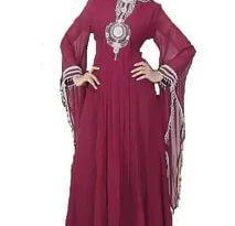 صورة عباية مغربية , اجمل تصميمات العباءات المغربية المطرزو