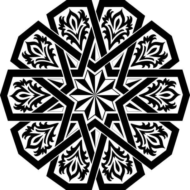 صورة رموز وزخارف , احلى الزخارف الملونة بنقوشات رائعة