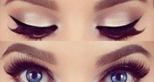 صورة مكياج عيون بسيط , كيفية رسم العيون