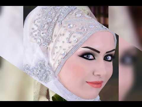 صوره صور عرايس محجبات , صور يوم الزفاف للمحجبات