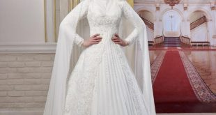 صورة فساتين اعراس للمحجبات , اجمل فساتين للافراح بالحجاب