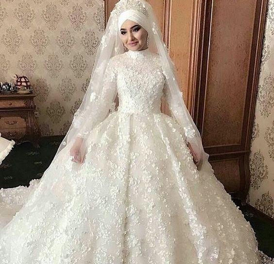 بالصور فساتين اعراس للمحجبات , اجمل فساتين للافراح بالحجاب 1254 2