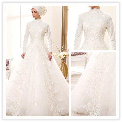 بالصور فساتين اعراس للمحجبات , اجمل فساتين للافراح بالحجاب 1254 7