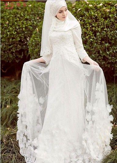 بالصور فساتين اعراس للمحجبات , اجمل فساتين للافراح بالحجاب 1254 9