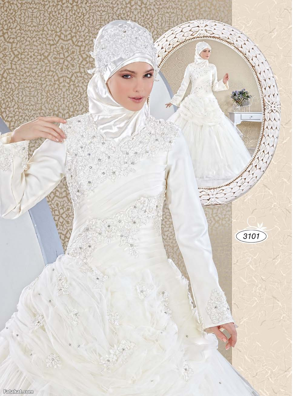 بالصور فساتين اعراس للمحجبات , اجمل فساتين للافراح بالحجاب 1254