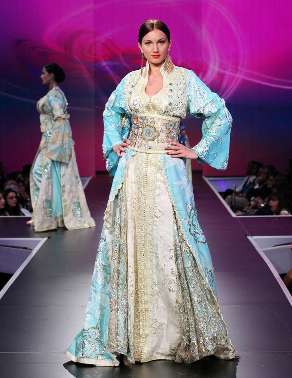 بالصور قفاطين مغربية , افخم انواع الفساتين فى المغرب 1391 5