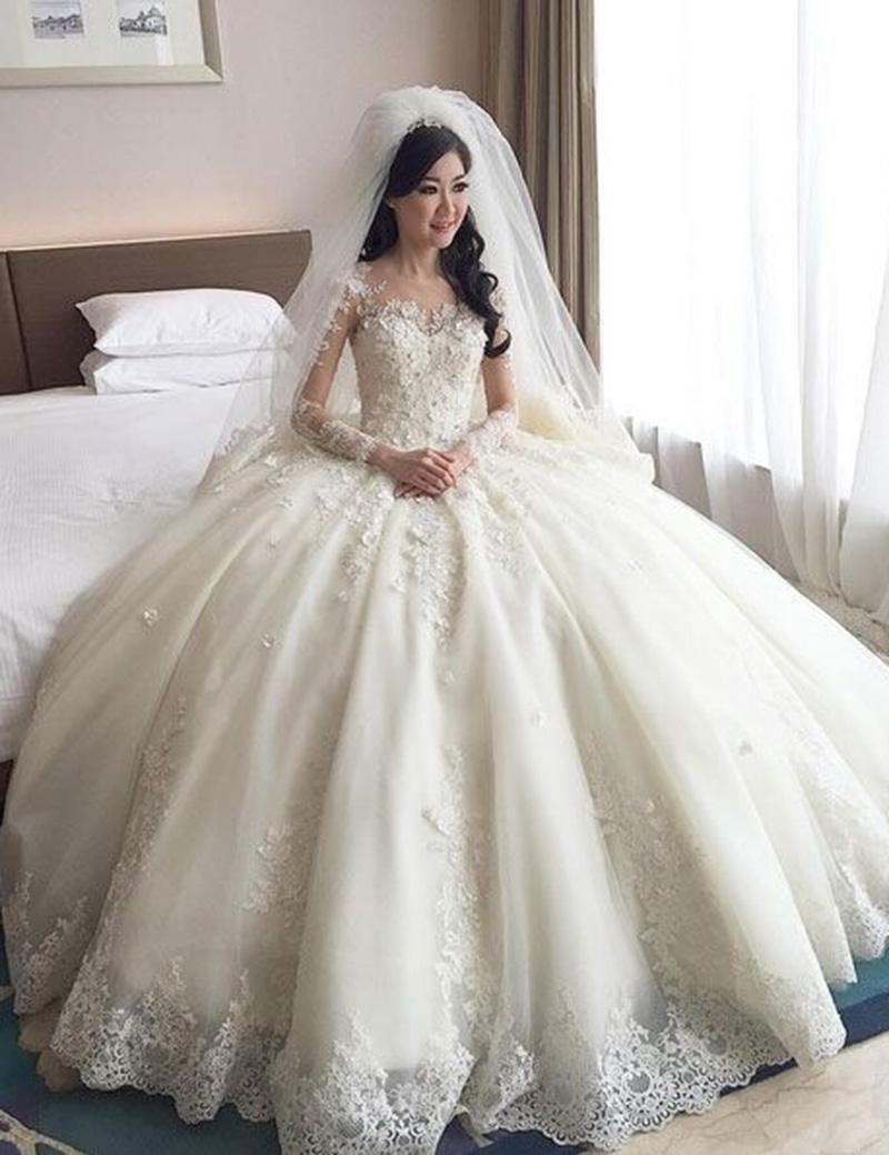 بالصور صور فساتين اعراس , تشكيله فساتين زفاف رائعه 1396 3