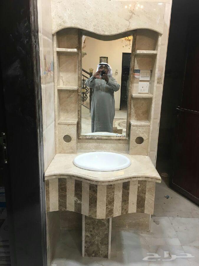 صورة اشكال مغاسل رخام طبيعي , جمال احواض الوجه الرخاميه
