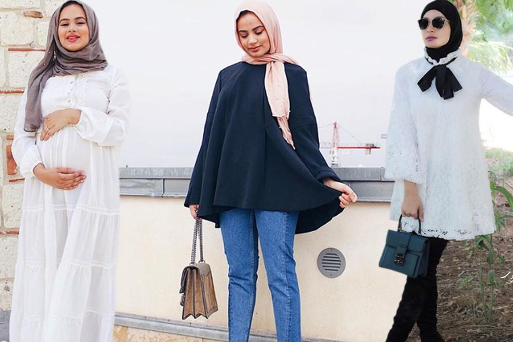 صورة ملابس للحوامل المحجبات , تعرف على احدث ملابس الحوامل