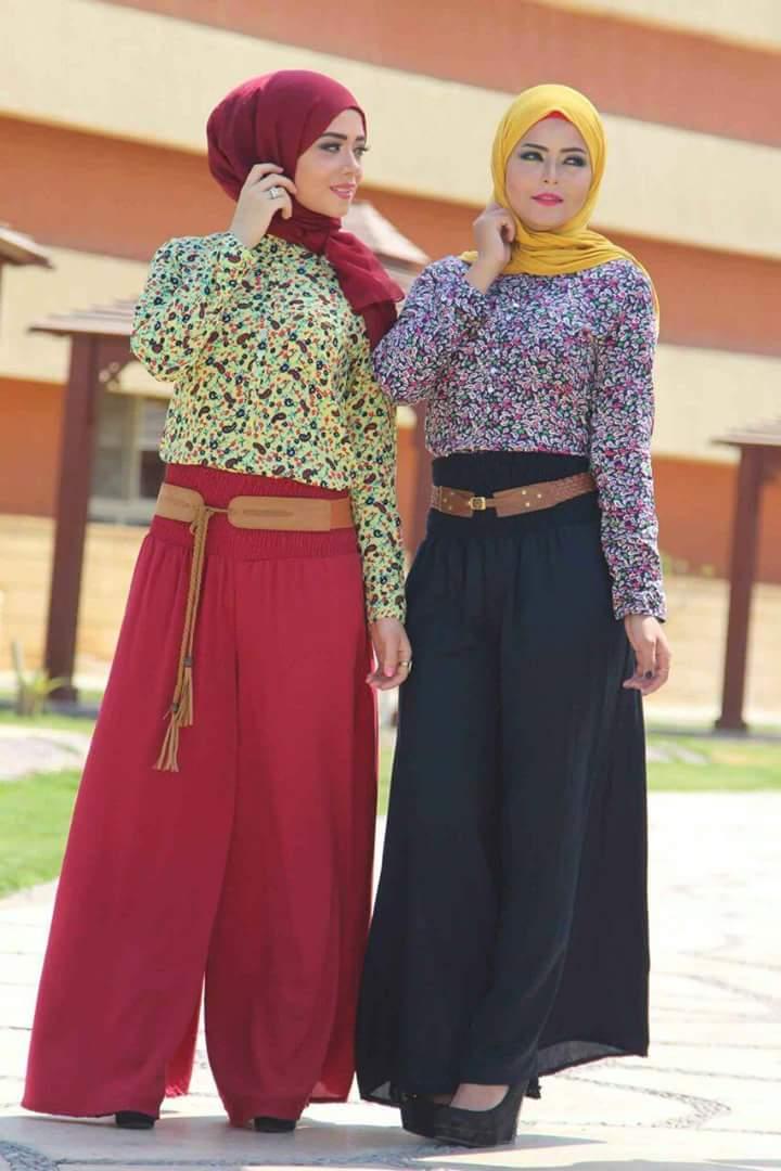 صورة ملابس للمحجبات , احدث موديلات الفساتين للمحجبات