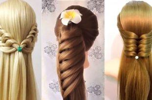 صوره تسريحات الشعر الطويل , اشكال تسريحات مختلفة للشعر الطويل