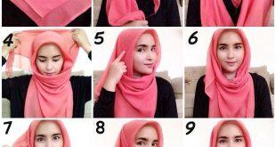صورة طرق لف الحجاب , لف الحجاب بطريقة سهلة وسريعة
