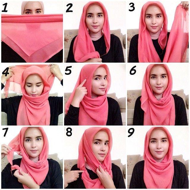 طرق لف الحجاب , لف الحجاب بطريقة سهلة وسريعة