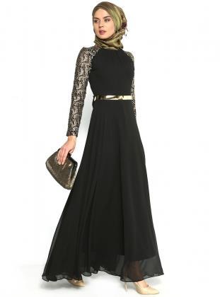 بالصور فساتين طويله فخمه , جمال الفساتين الطويلة وشياكتها على الفتاة 2684 1
