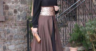 صورة فساتين طويله فخمه , جمال الفساتين الطويلة وشياكتها على الفتاة