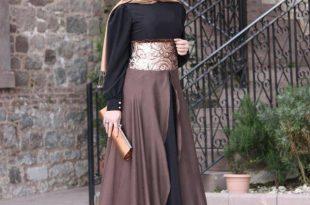 بالصور فساتين طويله فخمه , جمال الفساتين الطويلة وشياكتها على الفتاة 2684 14 310x205