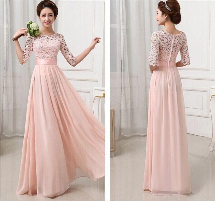 بالصور فساتين طويله فخمه , جمال الفساتين الطويلة وشياكتها على الفتاة 2684 7