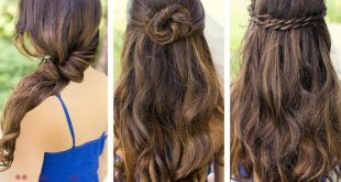 صوره تسريحات بسيطة للشعر الطويل , تسريحات سهلة للبنات ذات الشعر الطويل