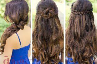 صور تسريحات بسيطة للشعر الطويل , تسريحات سهلة للبنات ذات الشعر الطويل