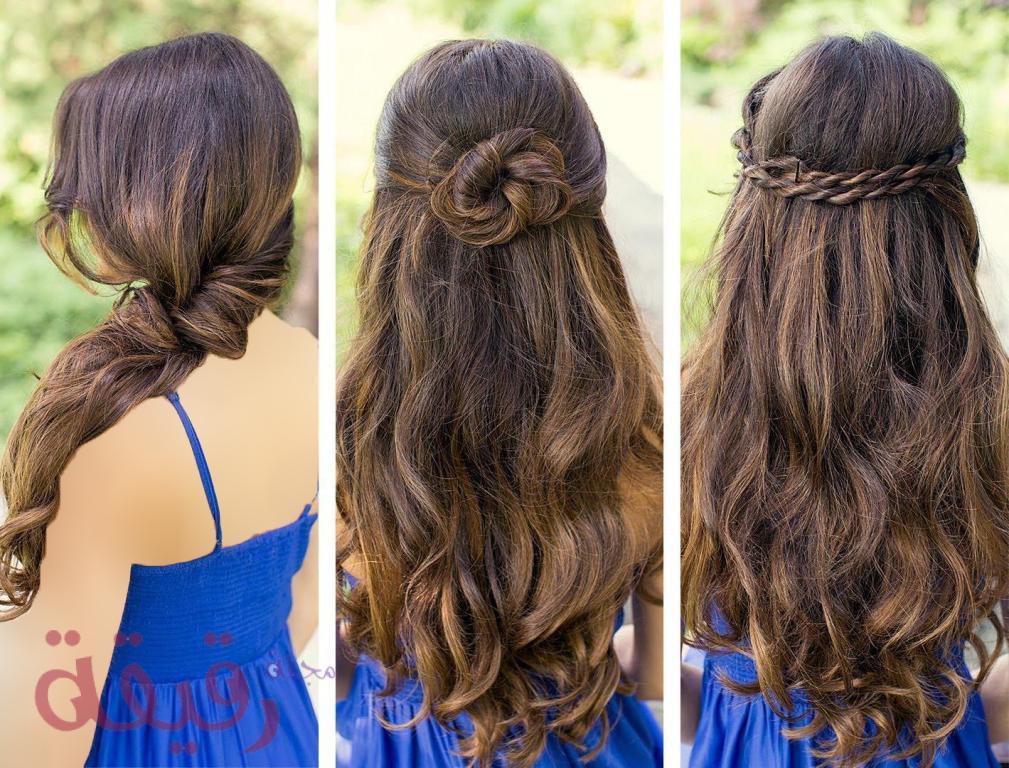 صورة تسريحات بسيطة للشعر الطويل , تسريحات سهلة للبنات ذات الشعر الطويل