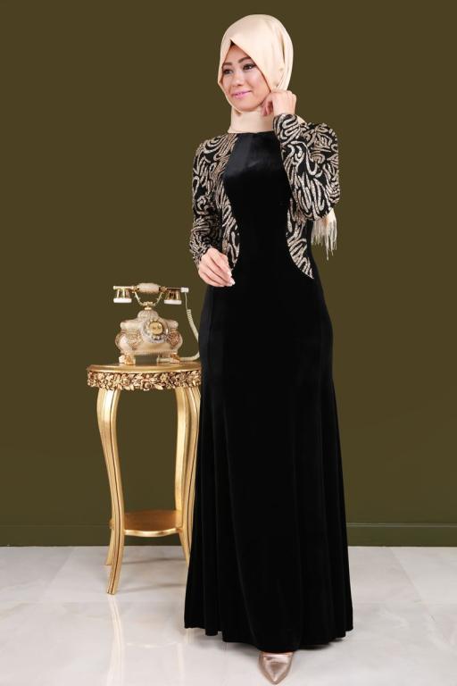 بالصور موديلات فساتين مخمل , اجمل تصاميم فستان مخمل 2777 10