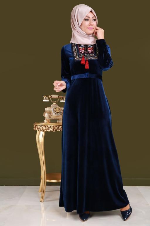 بالصور موديلات فساتين مخمل , اجمل تصاميم فستان مخمل 2777 11