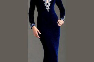 صور موديلات فساتين مخمل , اجمل تصاميم فستان مخمل