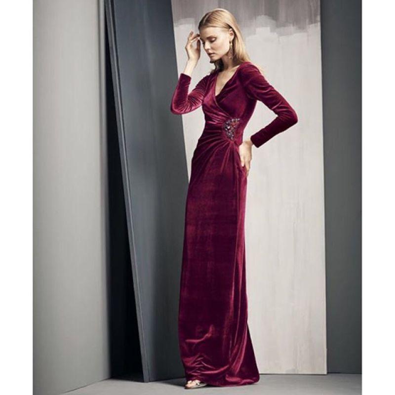 بالصور موديلات فساتين مخمل , اجمل تصاميم فستان مخمل 2777 4