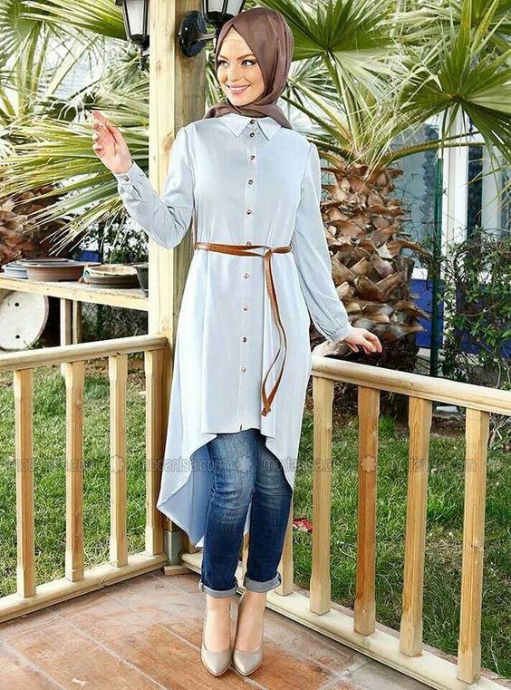 بالصور بلوزات محجبات , كوليكشن بلوزات تليق مع الحجاب 876 7