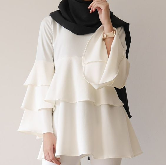 صور بلوزات محجبات , كوليكشن بلوزات تليق مع الحجاب