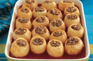 صورة طريقة عمل بطاطس باللحمة , طريقة عمل صينية البطاطس باللحمة المفرومة