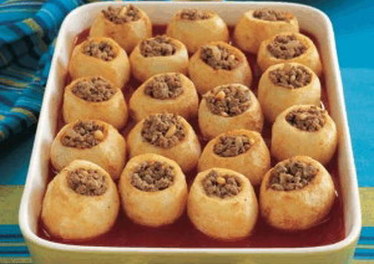 صور طريقة عمل بطاطس باللحمة , طريقة عمل صينية البطاطس باللحمة المفرومة