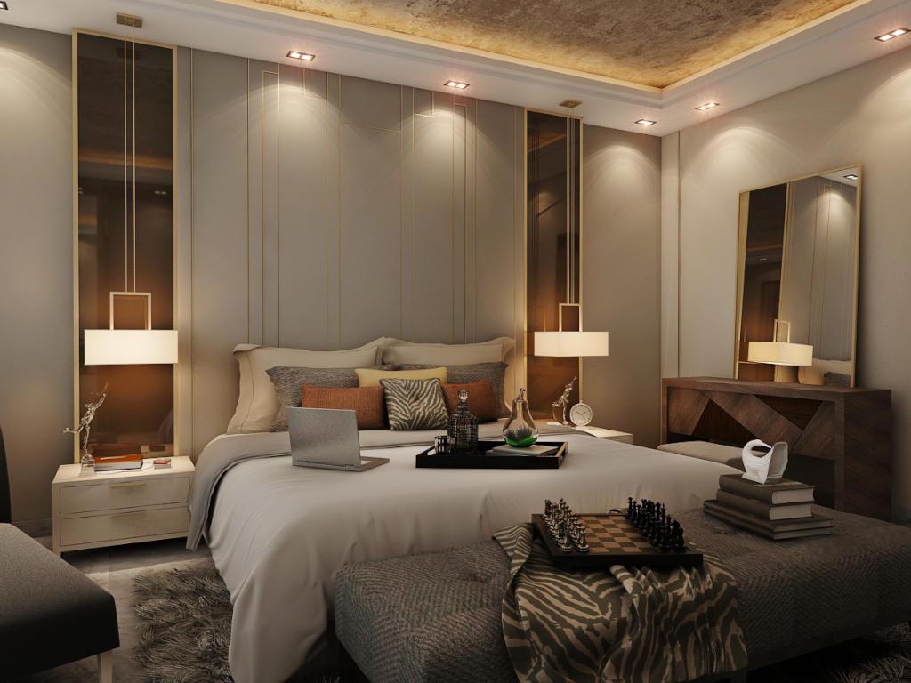 صورة صور ديكورات غرف نوم, اشعر بانك في فندق عائم بهذه الديكورات 719 7