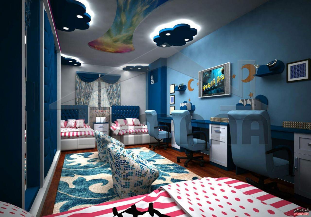 صورة ديكورات غرف اطفال, رقة رومانسية جمال وشباب ايضا في هذه التصاميم 723 1