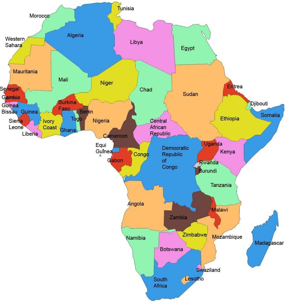 صورة خريطة دول افريقيا 13211
