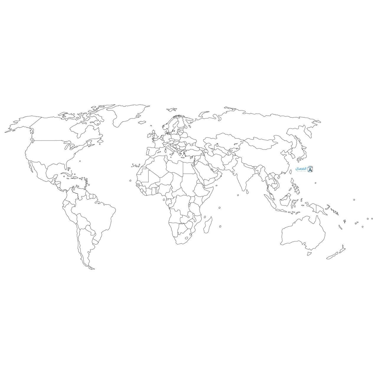 صورة خريطة العالم صماء 5680 3
